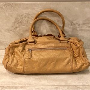 Balenciaga Camel Leather Bacon Whistles Duffle Bag